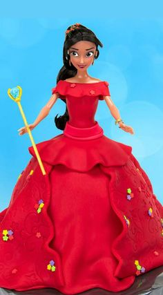 How to Make Disney Princess Elena of Avalor Doll Cake (Disney Channel's newest princess) ~ Full tutorial video