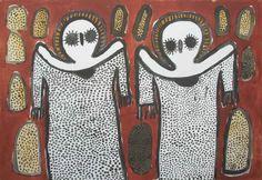 Two Wandjinas by Lily Karadada
