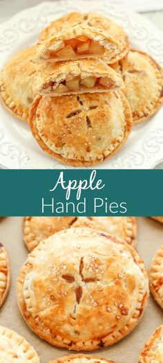Surrounded by a buttery, flaky pie crust, these Apple Hand Pies contain a sweet apple pie filling. These delicious apple hand pies are an easy grab and go dessert, no plate or fork necessary. They are SO easy to make and perfect for fall! Easy Pie Recipes, Fall Dessert Recipes, Pie Crust Recipes, Apple Pie Recipes, Köstliche Desserts, Delicious Desserts, Easy Apple Pie Recipe, Easy Apple Pie Filling, Hand Pie Crust Recipe