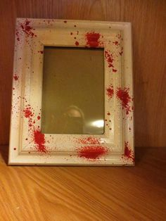Items Similar To Blood Splatter Frame On Etsy