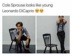 Cole sprouse looks like young leonardo dicaprio eonardo dicaprio Sprouse Bros, Cole Sprouse Hot, Cole Sprouse Jughead, Dylan Sprouse, Memes Riverdale, Bughead Riverdale, Riverdale Funny, Httyd, Cole Spouse