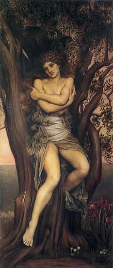 Dryad by Evelyn De Morgan. Fairies were not a part of ancient greek mythology. Ancient greeks had nymphs, like dryads (tree nymphs)