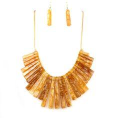 Semi Precious Beads Bar Tribal Necklace Set