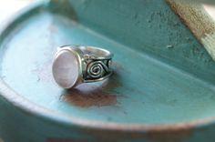 Rose Quartz Ring US size 7, Gemstone Ring, Yoga Ring, Boho Ring, Bohemian Ring by Sonajewelry on Etsy