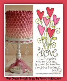 Love these colors? We can design the perfect napkins to go with this beautiful pink ombre cake.