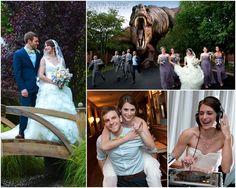 Dinosaur at a wedding - Joe + Dan's Wedding in Florham Park - Park Avenue Club