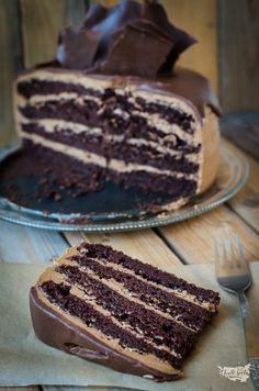 čokoládový dort s čokoládovým krémem Cake Designs, Tiramisu, Tart, Birthday Parties, Birthdays, Food And Drink, Cooking Recipes, Ethnic Recipes, Chocolate Cakes