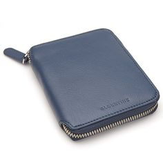 Image of Small Zip Around Wallet - Vintage Blue