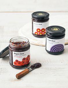 Jam Packaging, Food Packaging Design, Bottle Packaging, Packaging Design Inspiration, Jar Design, Bottle Design, Label Design, Jam Label, Food Banner