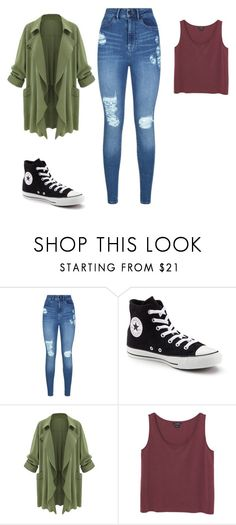 """""""Street Style"""" by diovion-doakes on Polyvore featuring Lipsy, Converse and Monki"""