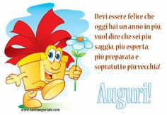 Birthday Greetings, Birthday Wishes, Happy Birthday, Italian Humor, Happy B Day, Vignettes, Winnie The Pooh, Funny, Gif