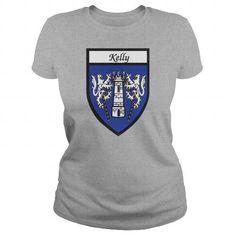 Kelly Family Shield Coat of Arms TShirts #sunfrogshirt
