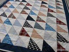 Creative Chicks: Sheets and Shirts HST Quilt