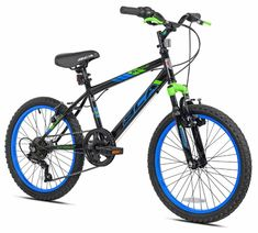20″ Wheels Front Shock Boys Mountain Bike 6-Speed Twist Shifting Kids Bicycles Let your kids have some fun with the SC20 hardtail mountain bike. Tuned travel front shock absorbs the bumps and the sturdy steel frame keeps the bike tracking straight. Shifting is handled with a six-speed drivetrain featuring twist shifters, and lugged knobby tires get […]