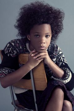 """""""I'm not gonna name names,"""" [Wallis] says, """"but sometimes when reporters are talking it gets a little boring because I don't have any jokes to tell because the questions are so serious."""" There's Something About Quvenzhané Wallis Wallis, Tween Fashion, Fashion Shoot, Lanvin, Old Movie Stars, Popular People, Cameron Diaz, Young Actors, Kid Movies"""