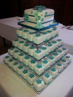 Wedding Cake - Individual Wedding Cakes www.facebook.com/sweetmaddyscakes