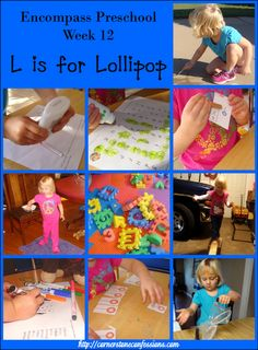 Preschool Lesson Plans and Printables  L is for Lollipop