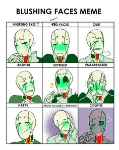 NewTale Gaster blushing meme (bunnymuse)