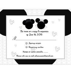 mickey mouse weddings | mickey minnie wedding rsvp card 5 $ 15 wedding engagement