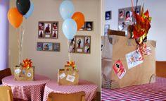 Festa infantil com tema Avião, feita em casa, materiais recicláveis e com amor.