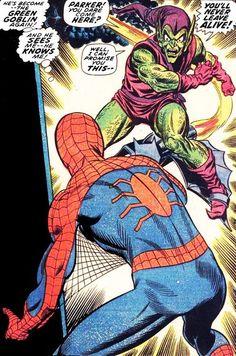 Spider-man and Green Goblin by John Romita Sr. tumblr_njsqhyioei1qhpx4lo1_500.jpg (497×750)