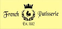 Paris Stencils | Stencil French Patisserie paris bakery wreath crown 16 x 6.5 inches ...