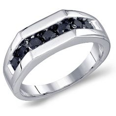 Black Diamond Engagement Ring For Men 8
