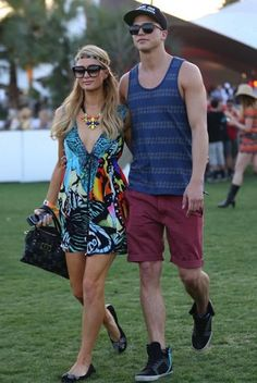 Paris Hilton and River Viiperi #coachella