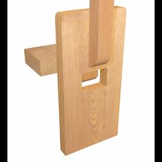 "This distinctive form of tenon found in Arts & Crafts furniture uses a wedge shaped ""key"" inserted in to a tenon that pass through the side of a board to secure it in place . This traditional and high Woodworking Joints, Easy Woodworking Projects, Woodworking Furniture, Plywood Furniture, Diy Wood Projects, Fine Furniture, Woodworking Forum, Woodworking Files, Woodworking Lessons"