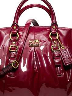 5f3c420f8485 Beautiful patent leather gives an elegant sheen to our Madison Collection.  Coach Purses