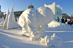 snow scultures - Google Search