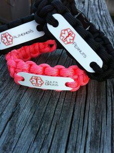 Medical Alert Paracord 550 Bracelet for children by CJWOODCRAFTS, $12.00