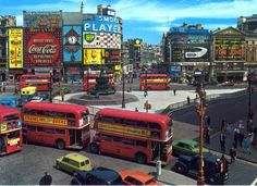 Amazing tilt/shift photo of Piccadilly Circus, London London Bus, Old London, Vintage London, London City, Piccadilly Circus, Tom Jones, Swinging London, London History, British History