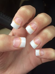 Acrylic French tip nails