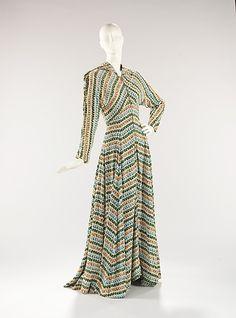 Dress, Evening  Elsa Schiaparelli (Italian, 1890–1973)  Date: ca. 1948 Culture: French Medium: synthetic