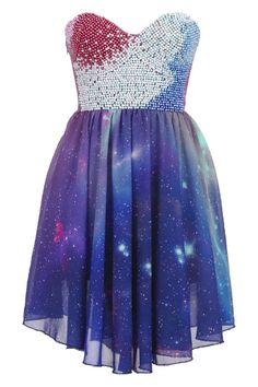 Beaded Bandeau Galaxy Dress: I finally found a replacement for the disapointment that was formerly a photoshopped dress. This one looks so close and I would still wear it.