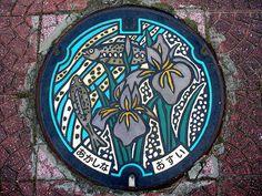 Akashina Nagano manhole cover(長野県明科町のマンホール) by MRSY, via Flickr