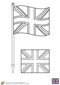 Angleterre londres bricolages coloriages pour enfant - Coloriage drapeau anglais ...