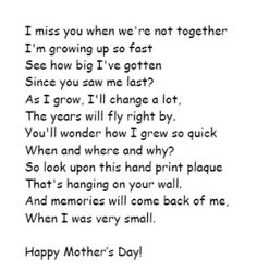 Add A Handprint With This Cute Poem! For the grand mommies? Mothers day