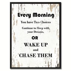 Every morning Wisdom Quote Saying Gift Ideas Home Décor Wall Art #wisdomquote