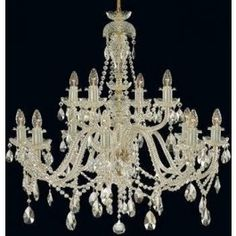 Tomia L 120/12/002 Royal Family Queen Elizabeth 12-Light Crystal Chandelier