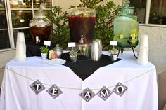 Modern Spanish Tapas Bridal Shower in Black and Lime Green
