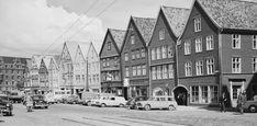 Fra Bergen 1961. Foto: Mittet & Co.AS/JacBrun/Nasjonalbiblioteket.