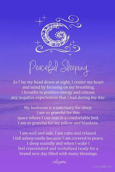 Affirmation - Peaceful Sleeping by CarlyMarie