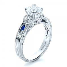 saphire jewlery | Blue Sapphire Engagement Ring - Kirk Kara. | Joseph Jewelry Seattle ...