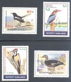 Blue Moon Philatelic Stamp Store - Bangladesh 221-224 Stamps Bird Stamps AS BNGLH 221to224-1 MNH, $5.75 (http://www.bmastamps2.com/stamps/asia/bangladesh-stamps/bangladesh-221-224-stamps-bird-stamps-as-bnglh-221to224-1-mnh/)