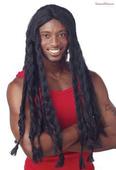 Rasta Wig#Rasta, #Wig Pirate Halloween Costumes, Halloween Costume Accessories, Theme Halloween, Adult Costumes, Costume Wigs, Costume Shop, Cosplay Costumes, Black Braids, Braids For Long Hair