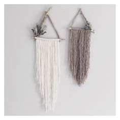 Juniper & Briar set https://www.etsy.com/ca/listing/287450269/juniper-briar-set-of-2-triangle #wallhanging #dreamcatcher
