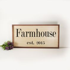 Farmhouse- Framed Hand Painted  Wood Sign Made From Reclaimed Wood- Rustic-Farmhouse Decor-Home Decor-Kitchen Decor- Country Decor by CountryLivingAtHeart on Etsy