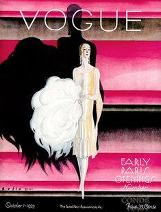 January 1925. Vintage Style vogue. #vintage #fashion #vogue #covers